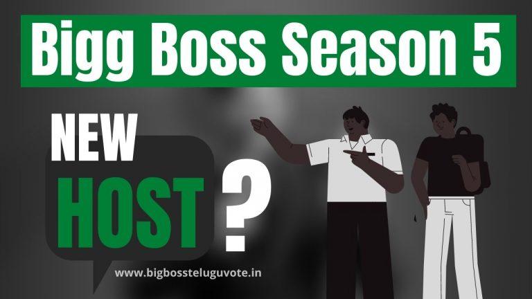 Who is the host of Bigg Boss Telugu Season 5